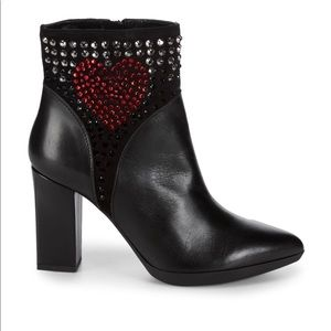 NWT Love Moschino Studded point toe booties.